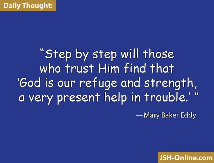 19 best cs christian science books pamphlets images on pinterest step by step will those who trust him find that god is our refuge fandeluxe Images