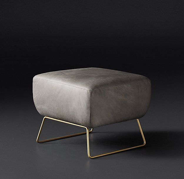 Liam Leather Ottoman