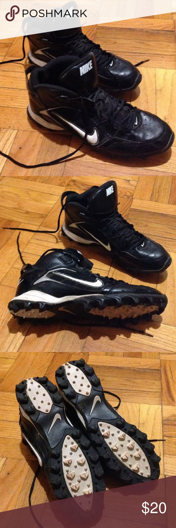 Men's High Top Football Cleats These high top cleats were used for a very short season! Great condition inside and out. Nike Shoes Athletic Shoes