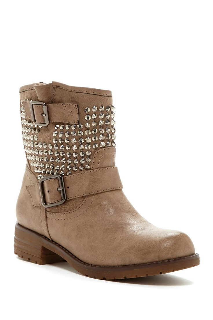 Jayda Crystal Embellished Boots for Fall!