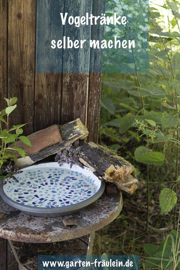 Lieblings Vogeltränke selber machen - Das Garten Fräulein zeigt dir wie es #FP_85