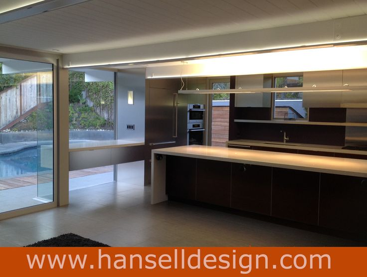 Complete renovation of a mid-century Eichler home in Marin County by Hansell Design. More examples are available online at: www.hanselldesign... . *All images copyright Hansell Design.