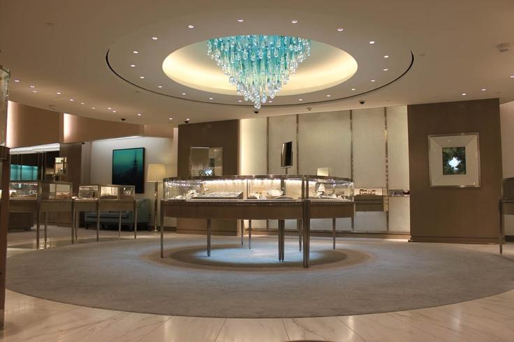 Darkon Custom Chandelier in Tiffany signature colour for Tiffany & Co - Melbourne