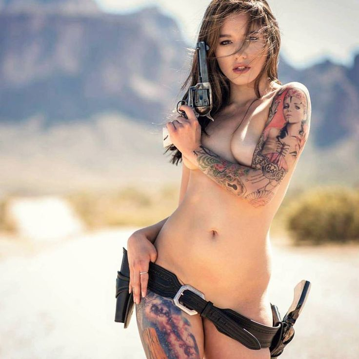 59 best girls and guns images on pinterest weapons guns for Nude women tattoo