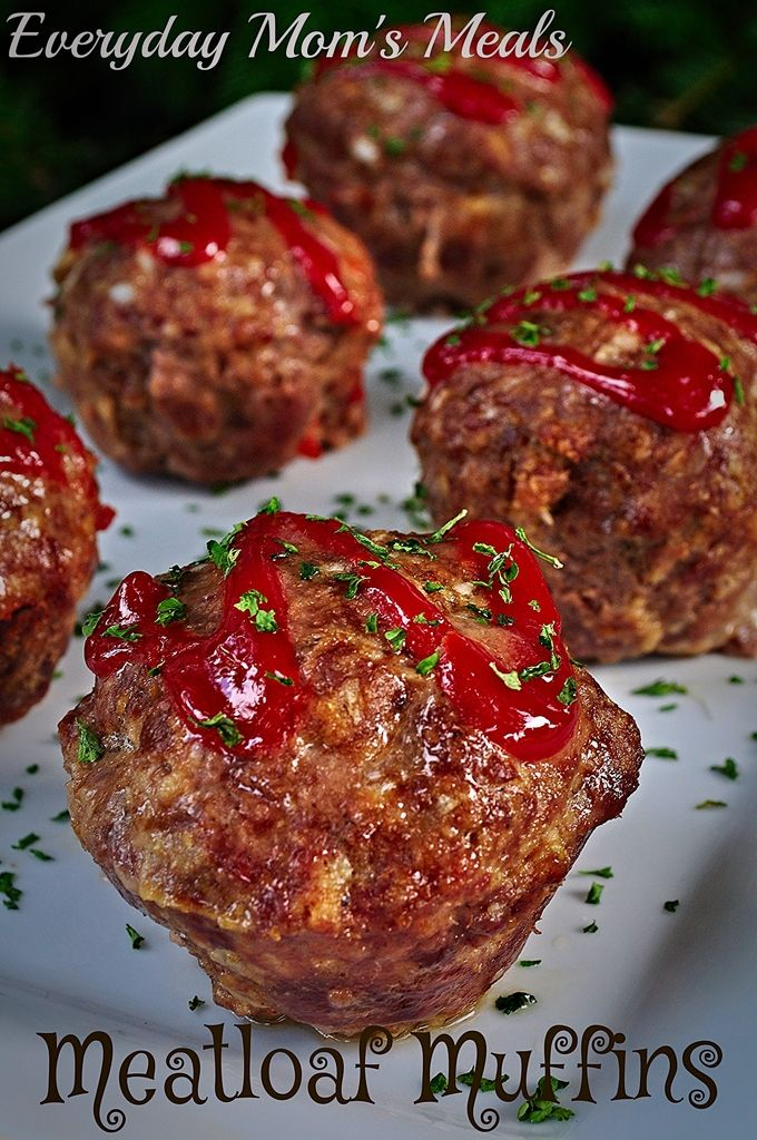 ~Meatloaf Muffins~ A new twist on a classic. Same delicious flavors, half the time.