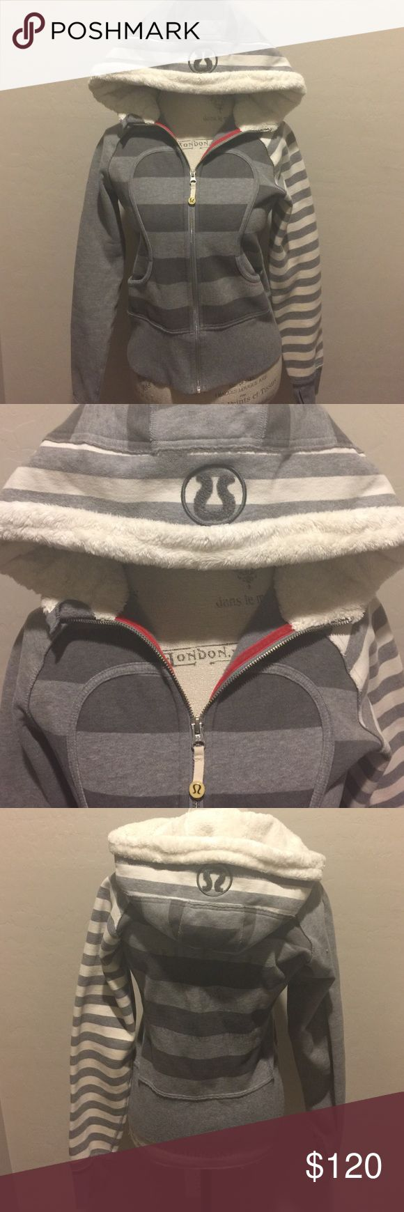 Special Edition lululemon Scuba Hoodie!!! This is a super unique lululemon Scuba Hoodie! Super detailed! Great condition!! Bought off of e bay and never wore. Needs a loving home!! lululemon athletica Tops Sweatshirts & Hoodies