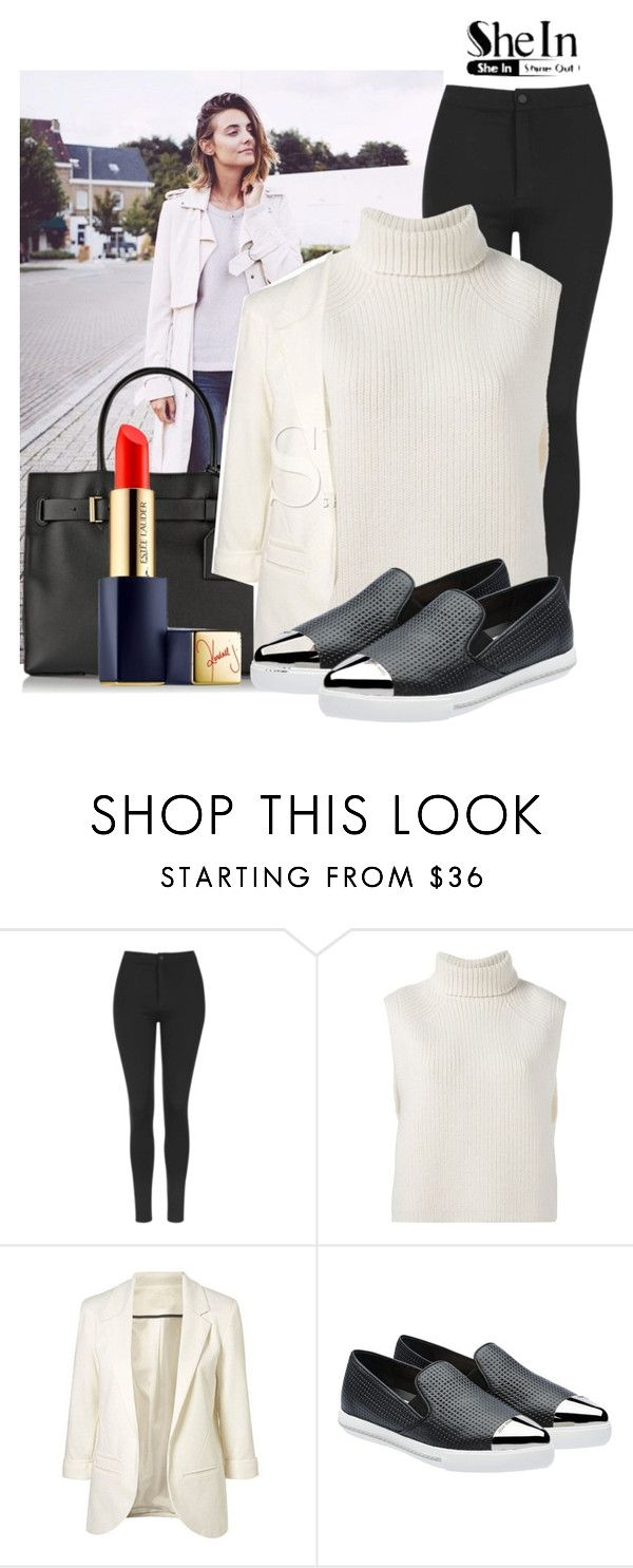 """Smart Casual Outfit with White Blazer"" by saraahtakuubaybee ❤ liked on Polyvore featuring Kerr®, Topshop, Étoile Isabel Marant, Miu Miu, Estée Lauder, women's clothing, women, female, woman and misses"
