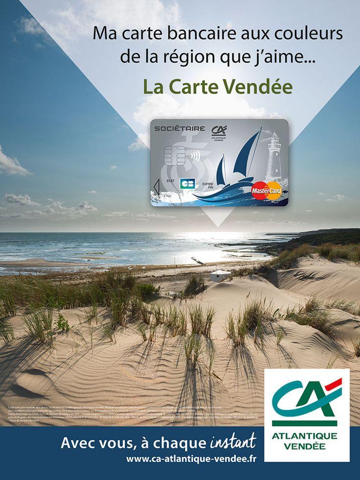 Affiche graphique Carte Vendée Crédit Agricole Atlantique Vendée