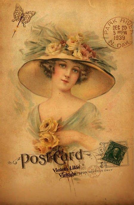 Cartões Postais Antigas Damas