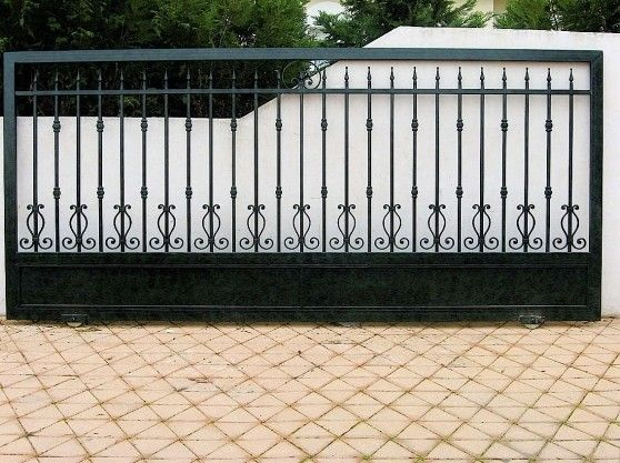 14 best images about portail on pinterest fence panels wrought iron gates and fencing - Portail fer forge ...