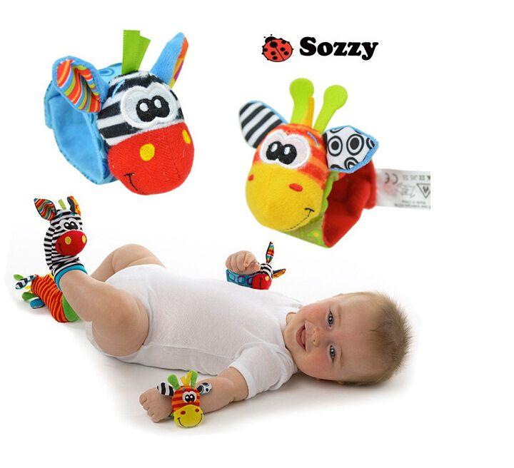 Cheap 2 piezas de los juguetes del bebé Sonajero regalo de la felpa de la muñeca del insecto del jardín Rattle + Foot Calcetines estilo educativo Juguetes, Compro Calidad Medias directamente de los surtidores de China:                                                 5pcs / lot el env