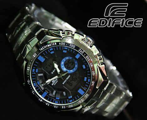 CASIO EDIFICE EFA 150 (Code: 4OS130;@225.000). Jam Tangan Pria. Kombinasi Analog Digital. Black Blue Dial. Stainless Steel Band. Menunjukkan integritas karakter AGAN sebagai pria yang elegan, fashionable, dan berkelas. SMS: 08531 784 7777 PIN: 331E1C6F www.butikfashionmurah.com