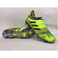Buenas Botas De Futbol Adidas Glitch Skin Baratas FG Volt Negro Violeta