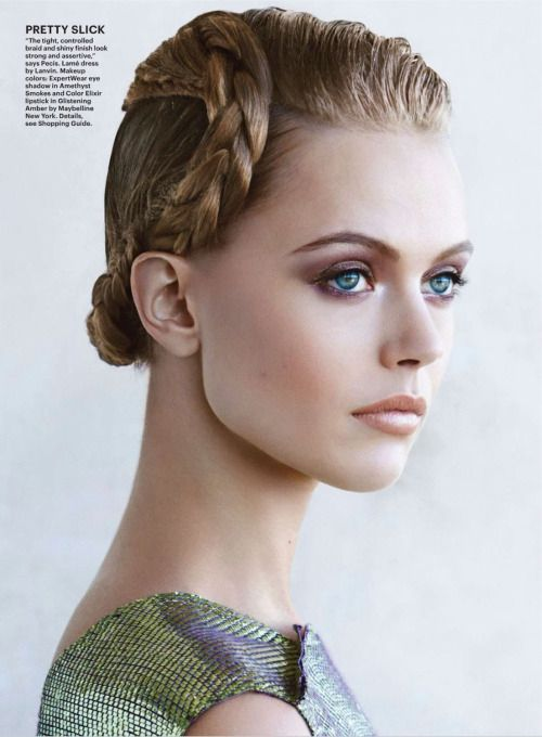leahcultice:  Frida Gustavsson by Patrick Demarchelier for Allure March 2014  So beautiful