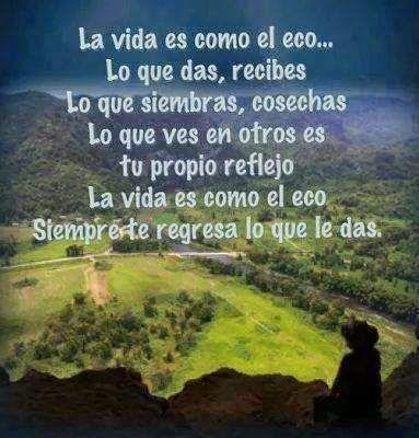 La vida es como el eco ...