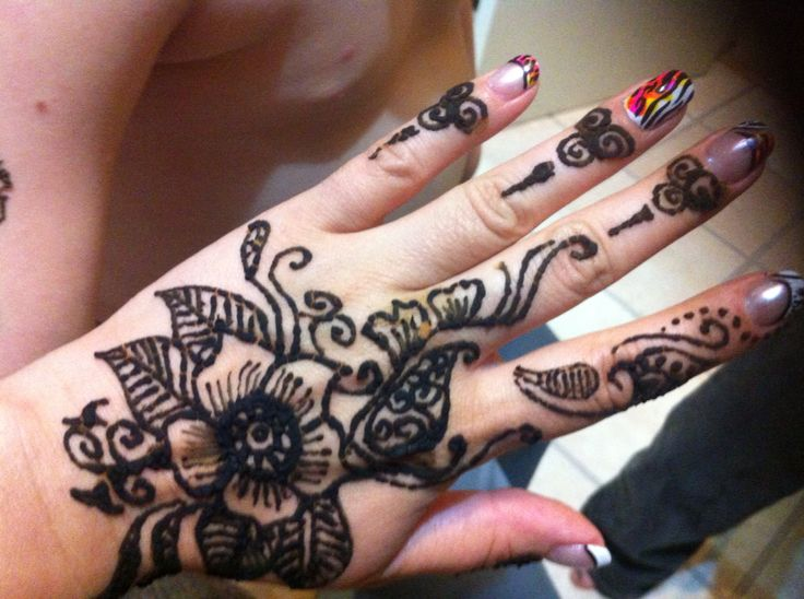 Henna and nails on my hand