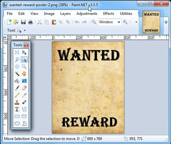 open the wanted poster VBS Western Pinterest Technology lessons - create a wanted poster free