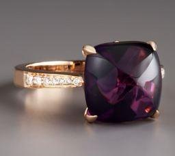 Frederic Sage Jelly Bean Amethyst & Diamond Ring