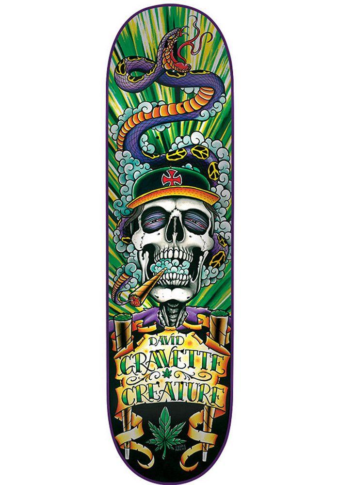 Creature Gravette-Hippy-Skull - titus-shop.com  #Deck #Skateboard #titus #titusskateshop
