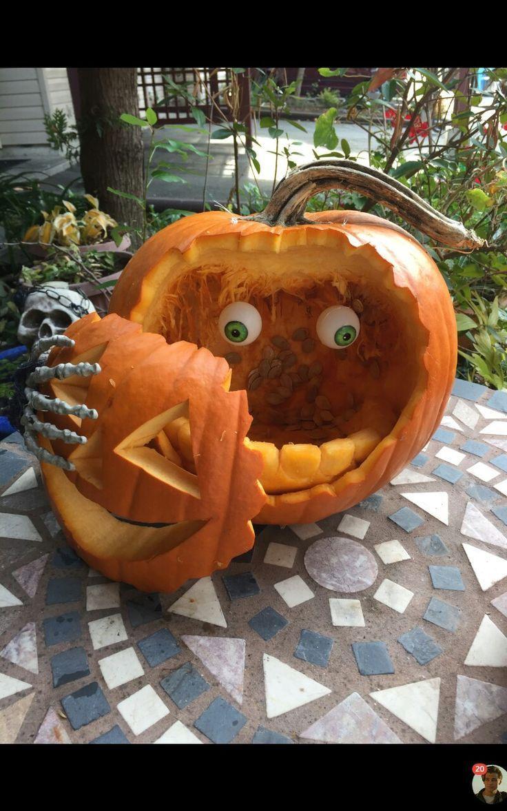 unglaublich Gesicht ab! – Kürbis geschnitzt von Betty Shaw – #Betty #Carved #carving #Face #Pumpkin