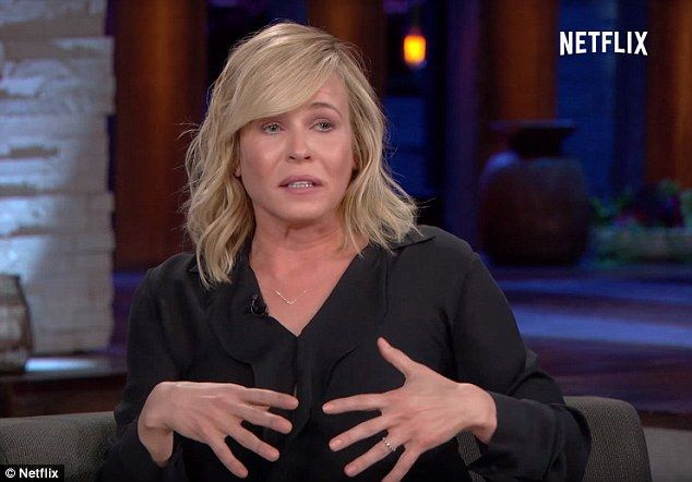 Overcome with emotion: Chelsea Handler cried on her talk show on Wednesday night while discussing Hillary Clinton's shock loss to Donald Trump