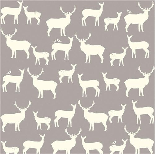 Home Gray Woodland Animals Fabric By The Yard Jay Cyn Designs For Birch Organic Fabrics Elk Grove KNIT Fam Shroom Fabricworm Always Brings You