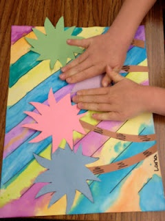 Truffula trees art.  Dr Seuss. Use warm or cold colours and add a writing prompt for underneath. Art and language together... Fabulous!