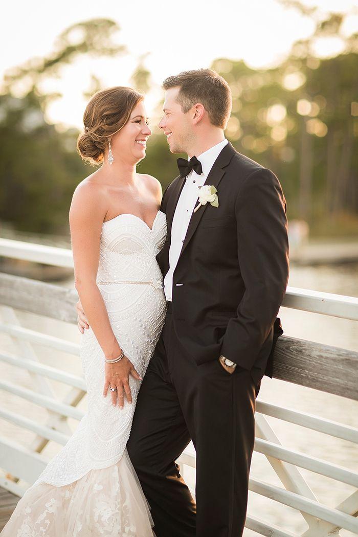 Stylish Black Tie Wedding with Southern Hospitality    #wedding #weddingday #aislesociety #glam #luxewedding #weddingdress #bride #brideandgroom