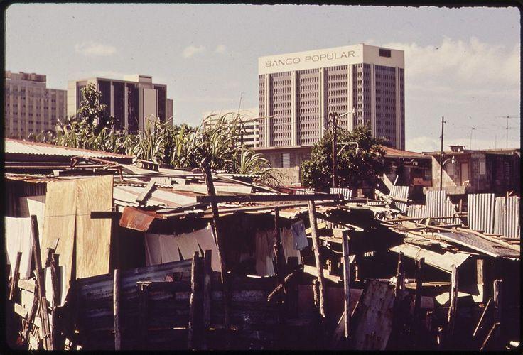 A shantytown along the Martin Peña Channel, 1973, Puerto Rico