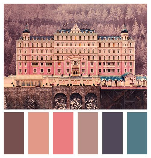 wes anderson grand budapest hotel colors - Google Search