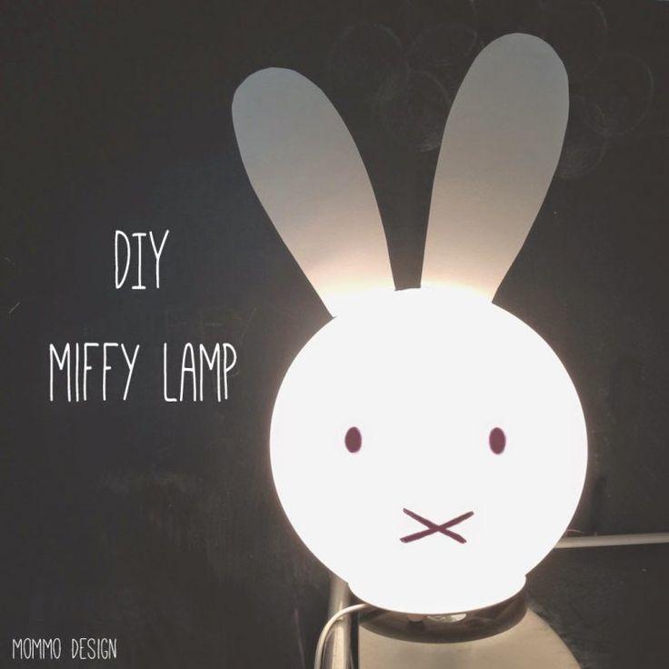 Diy Miffy lamp from Ikea Fado lamp