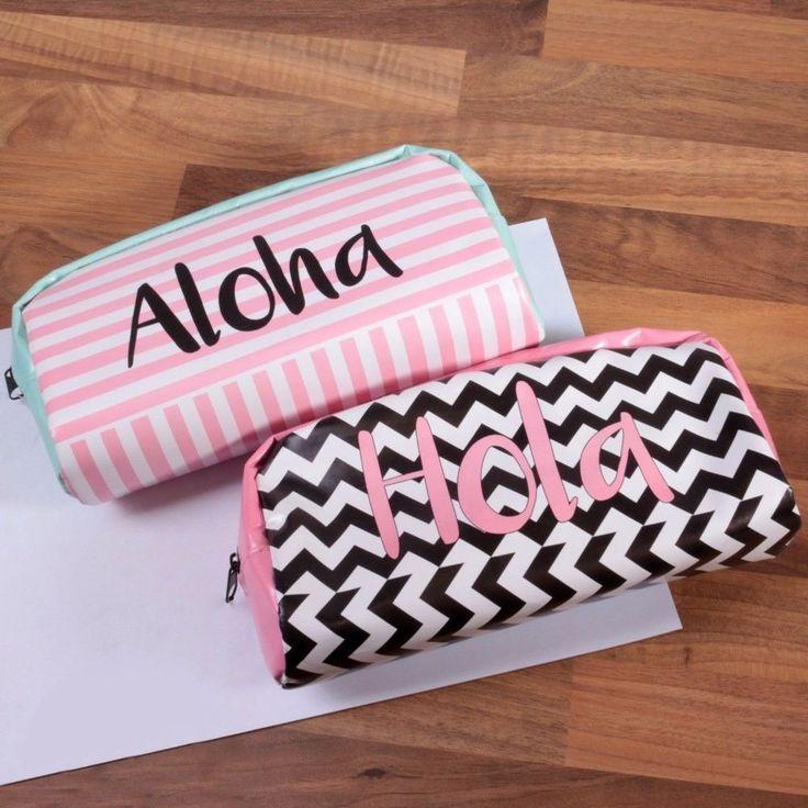 Large Cute Pencil Case Pineapple Flamingo Tropical Design School Make Up Bag