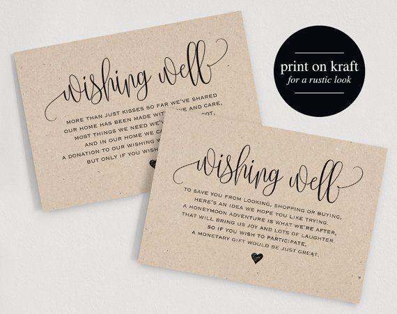 Wedding Invitation Wishing Well Wording: Wishing Well Card Wedding Wishing Well By