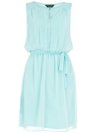 Dorothy Perkins - mint button front mini dress - bridesmaid dress