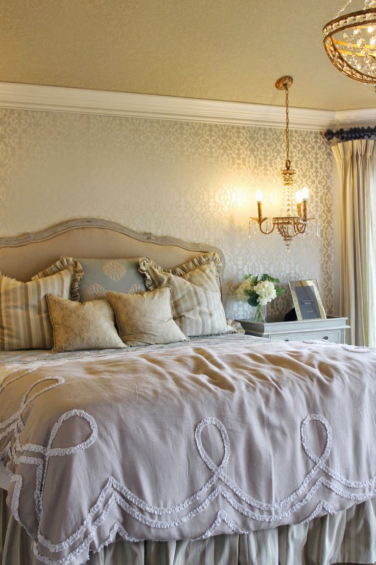 Vintage Glam Master Bedroom. Antique Meets Girly! Love