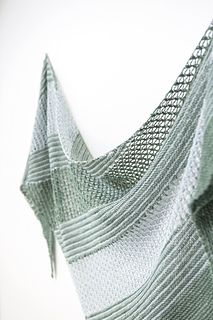 Sea Grass is large and lofty wrap with bias construction, knit in two colors of…