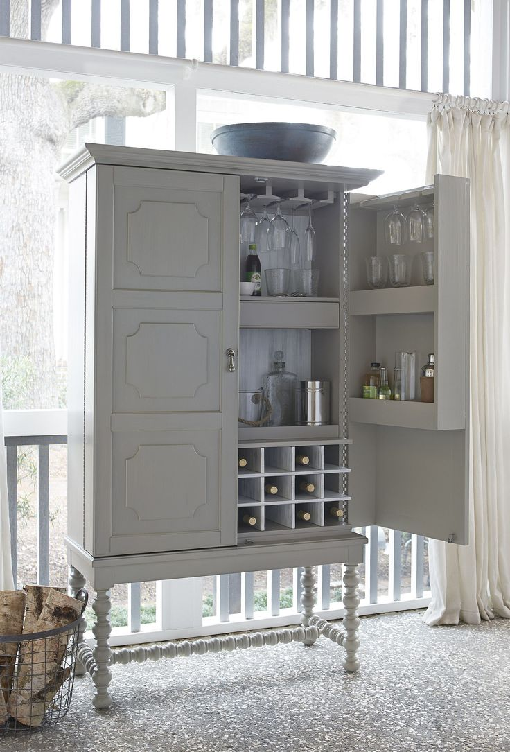 Shop The Paula Deen Dogwood Cobblestone Bar Cabinet At Woodstock Furniture  Outlet. Behind These Doors Offers Plenty Of Space To Organize.