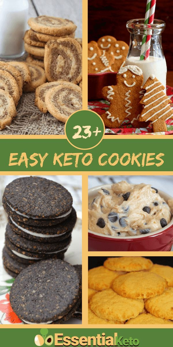23+ Easy Keto Cookies for the Holidays - Convert childhood favorite cookies to keto friendly treats and discover new low carb cookie recipe ideas..
