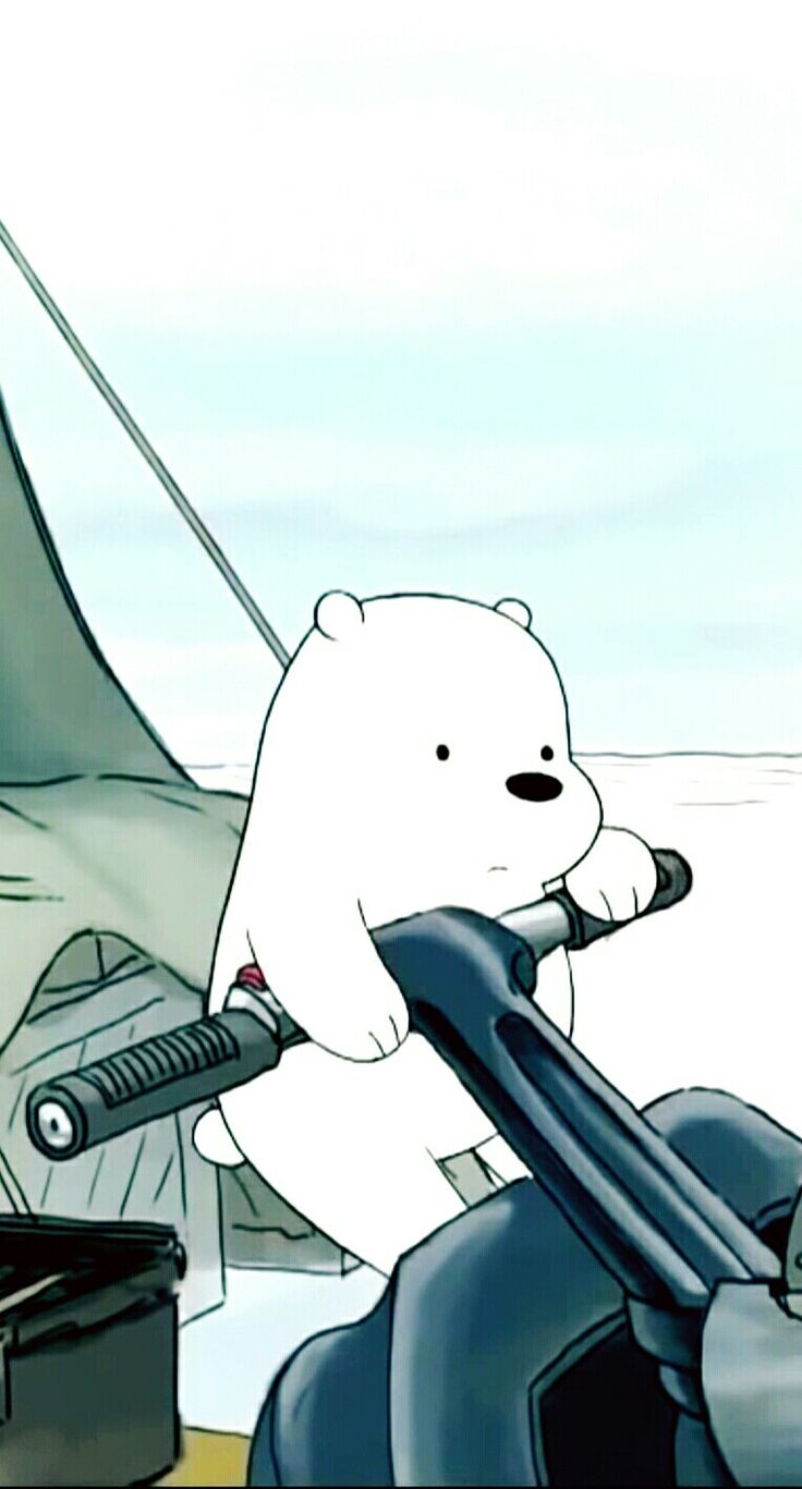 """who else loves ice bear? I don't literally watch we bare bears but I like his character. A guyfriend of mine calls me """"ice bear"""" since he says I'm so like him. Its been going on for a year now"""