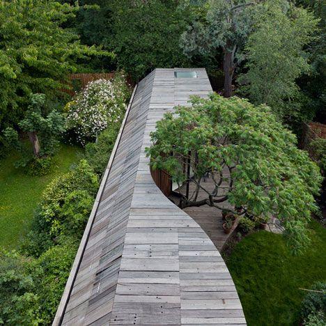 Rowan Moore's house- lucky man. Tree House by 6a Architects