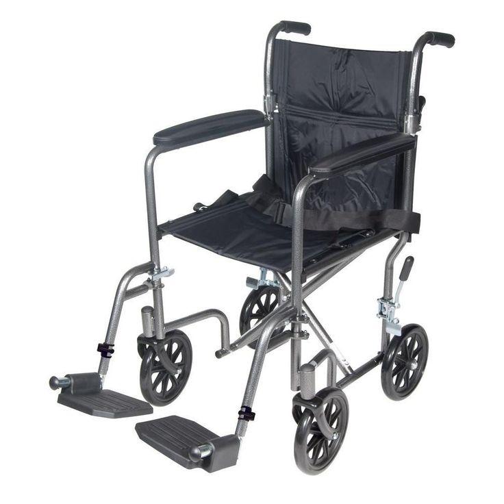 Silla de ruedas de viaje de acero Económica