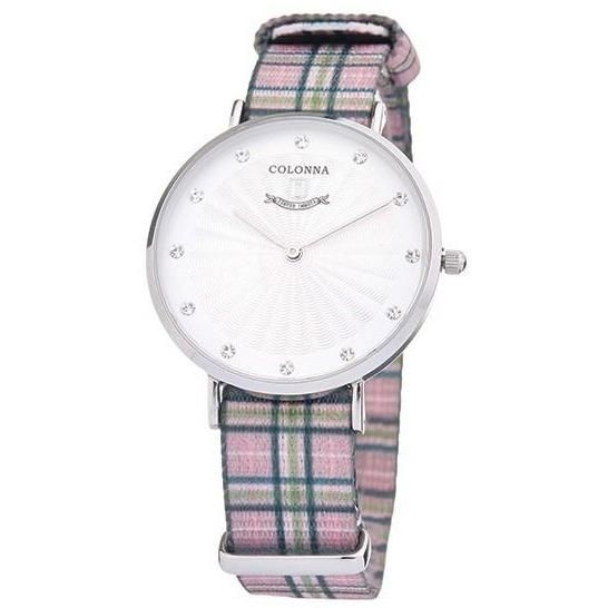 Watch with pink scottish band