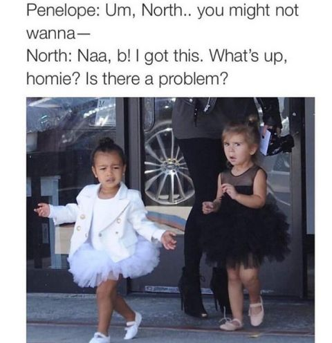 Funny meme of North West & cousin Penelope Disick - https://www.nollywoodfreaks.com/funny-meme-of-north-west-cousin-penelope-disick/