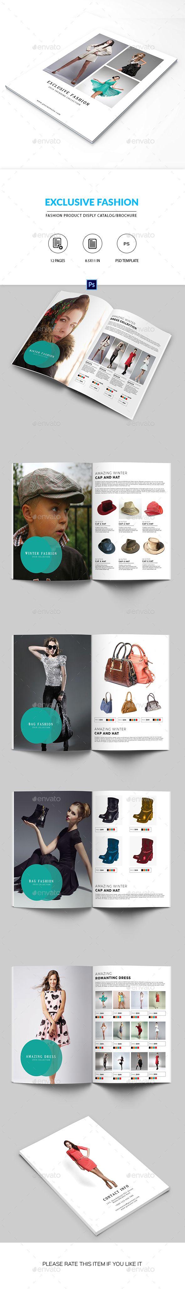 Minimal Fashion Product Display Brochure/Catalog  #lookbook #minimal #photoshop #price #product #$12