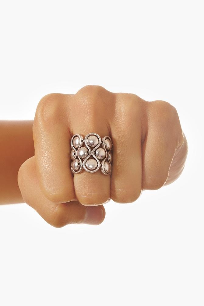 Beaded Loop Ring