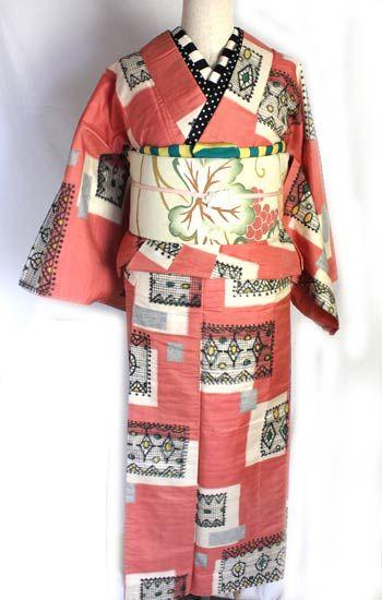 レースと宝石/銘仙袷着物 - ポップでガーリーな普段着物・ヘッドドレス・古道具・雑貨・アンティークやアーティスト作品の販売 『chiwachiwa ちわちわ』