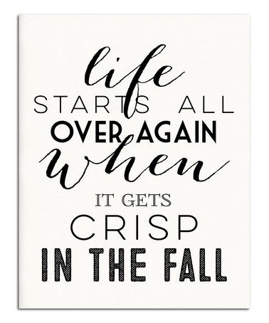 Look what I found on #zulily! White & Black 'Crisp in the Fall' Print #zulilyfinds