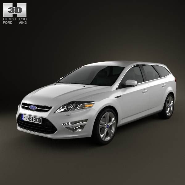 Ford Mondeo wagon Mk4 2011 3d model from humster3d.com. Price: $75