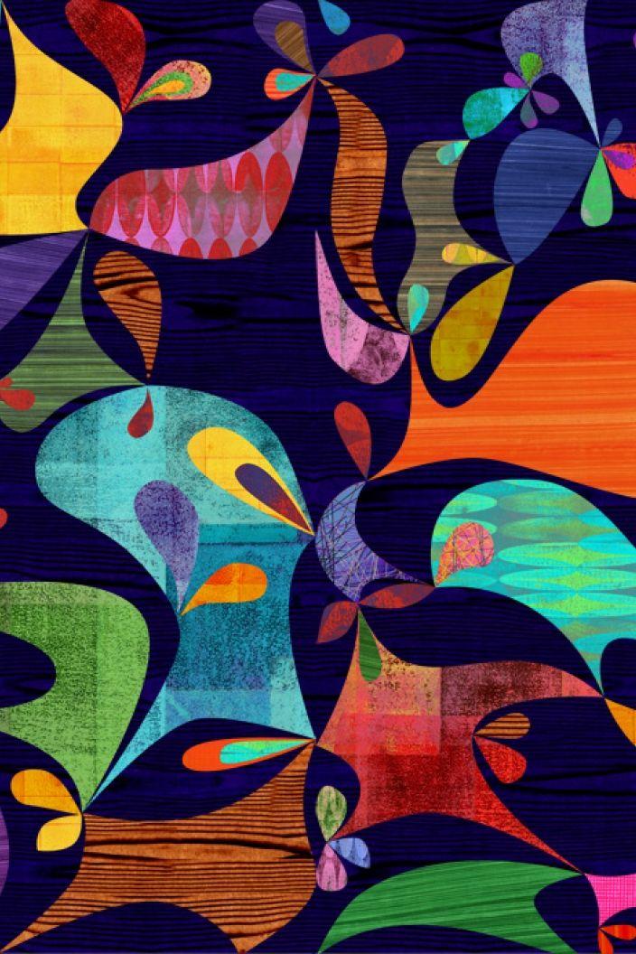 Cocobolo (Dark Blue) wallpaper designed by Rex Ray