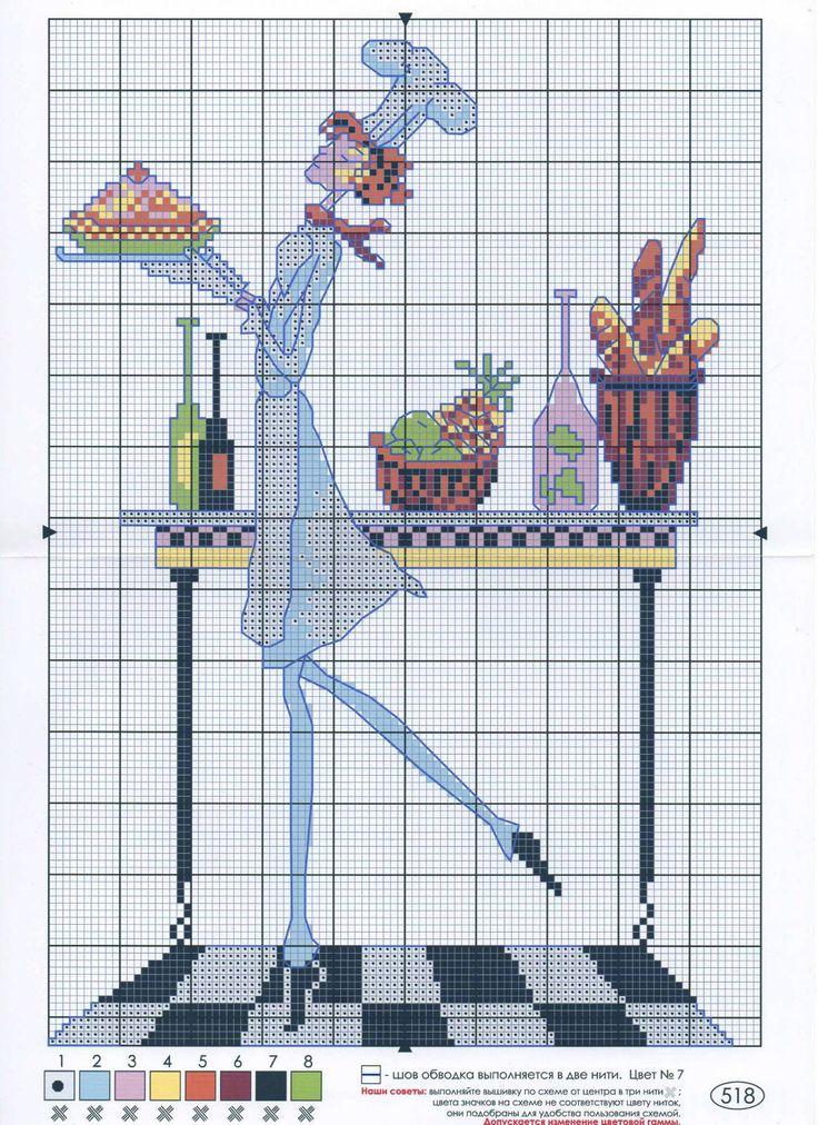 Cross Stitch *<3* Kitchen
